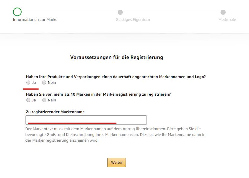 Voraussetzungen für die Markenregistrierung bei Amazon