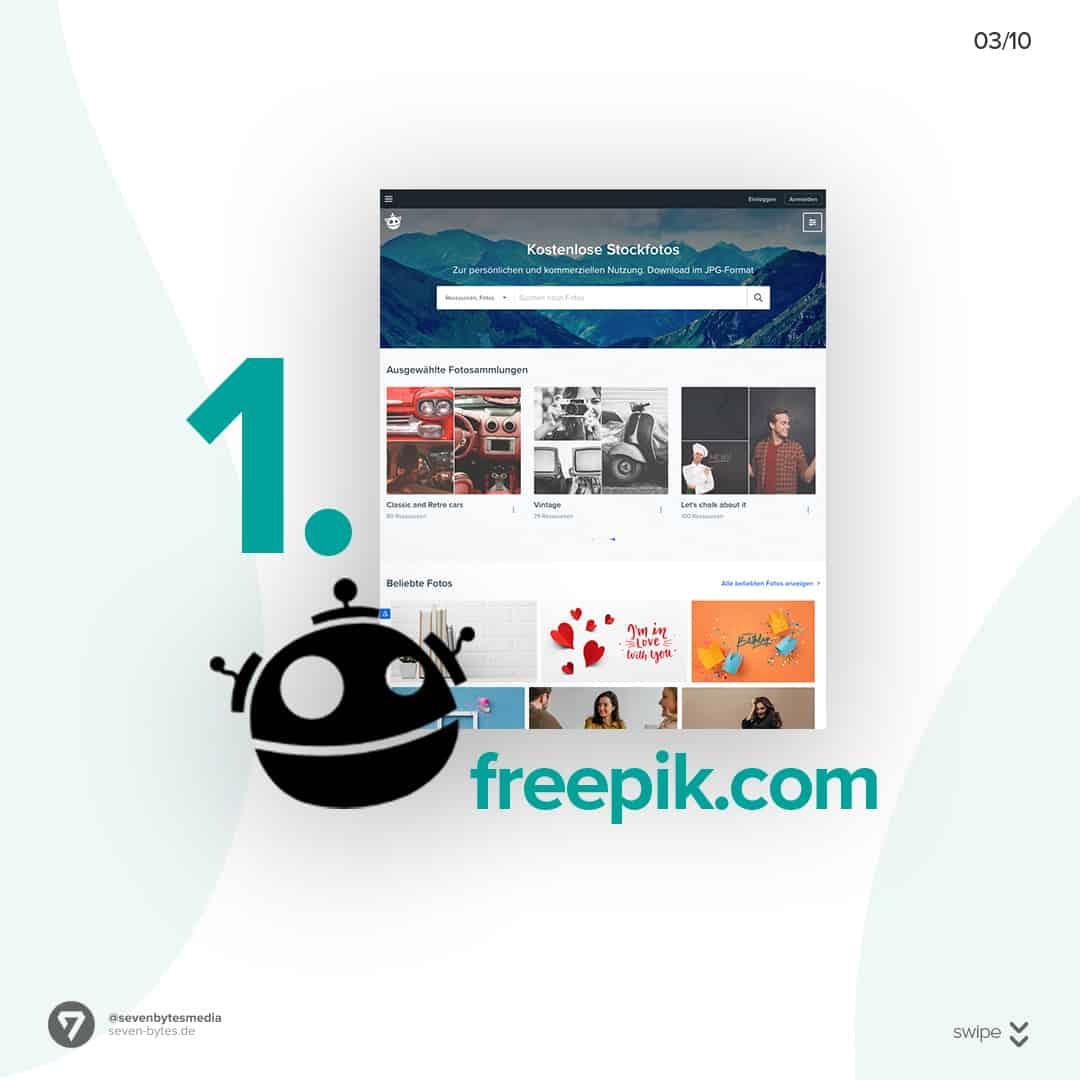 Auf der Webseite Freepik finden Sie ganz einfach kostenlose Stockbilder