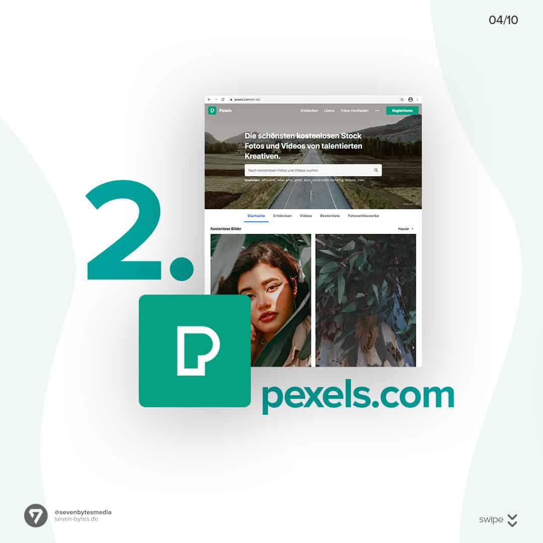 Auf der Webseite Pexels finden Sie ganz einfach kostenlose Stockbilder