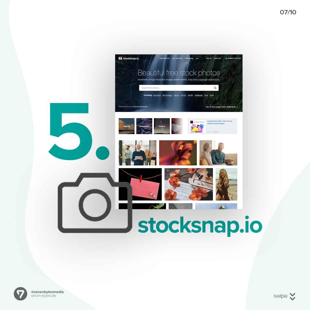 Auf der Webseite Stocksnap finden Sie ganz einfach kostenlose Stockbilder