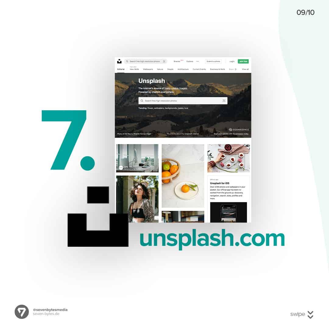 Auf der Webseite unsplash finden Sie ganz einfach kostenlose Stockbilder